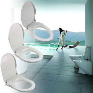 D17 Gold Dust Resin O V U Shape Bathroom Toilet Seat Lid Closed Front Lift Off