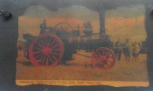 Antique  Wall Plaques Old Picture Plate Engine Old Timer Built - 1902 year
