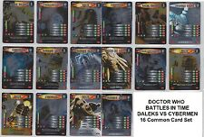 Doctor Who - Battles in Time - DALEKS VS CYBERMEN 16 Foil Card Common Set