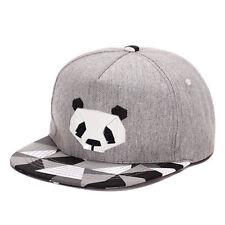 v, Men Unisex Fashion Hip Hop Bboy Baseball Panda Hat Snapback Adjustable Caps q
