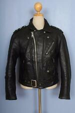 Vtg 70s SCHOTT PERFECTO Black 618/118 Leather Motorcycle Jacket Medium