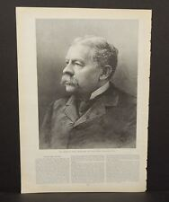 Harper's Weekly Single Page Hon Richard Olney Secretary of State c1890s A6#69