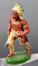 Vintage Composition Toy Indian Duro, Elastolin Soldier  Type
