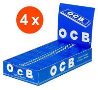 OCB Blau 4 Kartons à 25 x 50 kurze Blättchen | Zigarettenpapier Papers