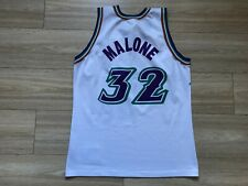 NBA UTAH JAZZ BASKETBALL SHIRT JERSEY CHAMPION #32 KARL MALONE