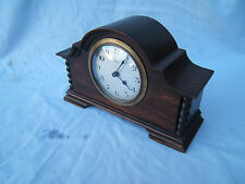Clock vintage Mahogany French 8 day mantle clock M6