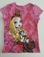 Ever After High Apple White Pink Shirt size S or 6 / 6X