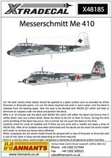 NEW Xtradecal X48185 1:48 Messerchmitt Me-410A-1