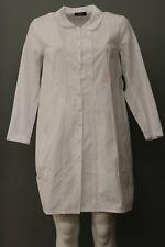 NEW! RISONA by TOMO Women's White Long Sleeve Blouse Top Button Down 100% Cotton