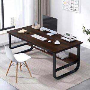 Large Computer Desk Study Desk Corner Computer Desk Workstation PC Table Shelve