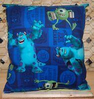 Monster Inc Pillow Pixar Pillow HANDMADE In USA Toddler ,Travel , Daycare NEW