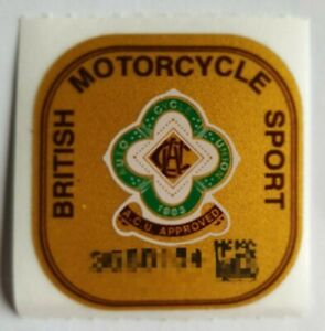 Genuine ACU Gold Sticker Approved British Union Motorcycle Helmet Track Race