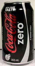 FULL New 355ml 12oz Can Coke Coca-Cola Zero Canada Bilingual English French 2011