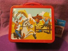 ALUMINUM COLLECTABLE LUNCH BOX--LOONEY TUNES RODEO