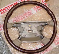 Jaguar OEM Genuine All Wood With Sable Steering Wheel S-Type 2001-2008 Brand New