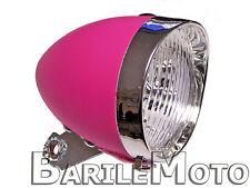 Fanale / Faro / Luce Anteriore Rosa 3 LED Bici Graziella - Olanda - R - Epoca