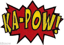 "KAPOW! EMBROIDERED PATCH  8cm x 6cm (3"" x 2 1/4"")"