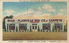1941 Postcard - Plainville Rug Company - On College Highway Plainville CT