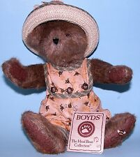 Boyds Bears Hunnie Z. Beezley,10in. jointed brown bear # 904114, honey bees