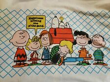 Vintage Peanuts Snoopy Twin Flat Sheet United Feature Syndicate
