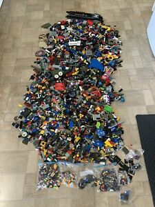 MIXED JOB LOT Non-Lego Building Bricks & Loads of Non Lego Mini Figures c10kg