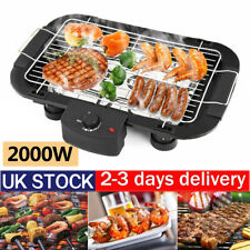 Electric Teppanyaki BBQ Grill Table Smokeless Hot Plate Non stick Barbeque UK