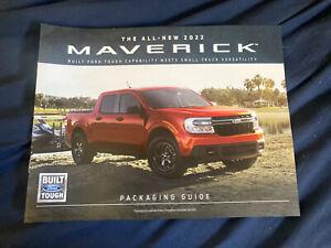 2022 All New  Ford Maverick Pickup color Brochure Prospekt