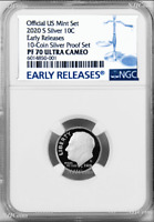 2020 S Proof 10C Silver Dime NGC PF70 UCAMEO in 10-coin-set BLUE label ER