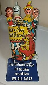 """SCARCE! c. 1967 """"Off to See the WIZARD"""" of OZ HAND PUPPET STORE DISPLAY -AS IS"""