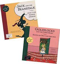 2 Bilingual Fairy Tales: Ricitos de Oro (Goldilocks) Juan y Los Frijoles Magicos