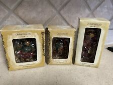 Lot Of 3 Boyds Critter & Co Moose Troop Ornaments 2003 & 2004~New In Box