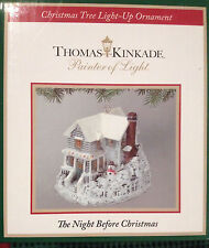 "THOMAS KINKADE CHRISTMAS TREE LIGHT-UP ORNAMENT ""THE NIGHT BEFORE CHRISTMAS"""
