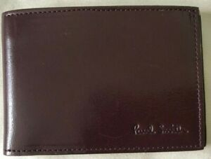 Paul Smith Men - SLIM Brown with yellow edging  travel pass / ID wallet