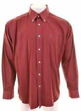 TOMMY HILFIGER Mens Shirt XL Burgundy Cotton  MA06
