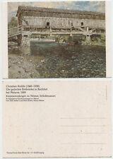 49234 -Christian Rohlfs: Die gedeckte Ilmbrücke in Buchfahrt -alte Ansichtskarte
