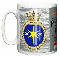 Royal Navy HMS Blazer Ceramic Mug, Archer Class P2000 Fast Patrol Pennant P279