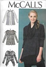 UNCUT McCall's sewing pattern ladies 7435 loose fitting top for stretch knits FF