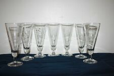 Set of 7 PRINCESS HOUSE - HERITAGE PATTERN - PILSNER GLASSES #442 EUC