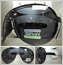 New Wrap Shield Aviators Style Men Designer Fashion Luxury Sunglasses Dark Lens