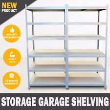 2M x 2M Metal Warehouse Racking Rack Storage Garage Shelving Shelf Shelves