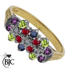 Anelli di lusso con gemme naturale di pietra principale rubino, zaffiro