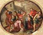 17th CENTURY FLEMISH OLD MASTER OIL ON COPPER PANEL - CHRIST CARRYING THE CROSS