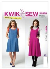 KWIK SEW SEWING PATTERN K3955 XS- XL LADIES DRESS CLOTHES PINAFORE DRESS