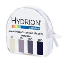 Hydrion Chlorine pH Test Sanitizer Tape Paper TWO 15ft Rolls 10-200 ppm CM-240