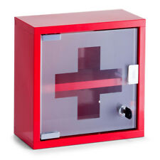 Medizinschrank Medikamentenschrank Metall Rot Arzneimittelschrank Hausapotheke