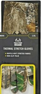 Realtree Edge Thermal Stretch Gloves Hunting New w/Tags Men's Size L/XL New