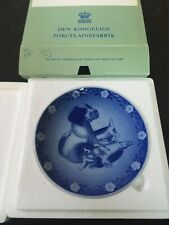 1986 Royal Copenhagen Mother Dog and Puppies Mother'S Plate With Original Box