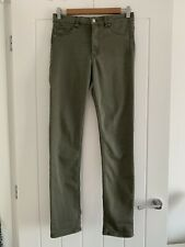 H&M Khaki Skinny High Waist Jeans Size W31