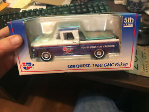 """Car Quest Auto Parts 1960 GMC Pickup Truck 7"""" Diecast Metal Coin Bank by Liberty"""