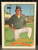 1989 Topps Tony Larussa Baseball Card #224 Oakland A's Mint Athletics Manager